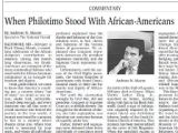 The National Herald - When Philotimo Stood With African-Americans